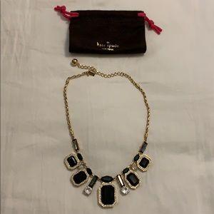 kate spade Jewelry - Kate spade black gem Art Deco statement necklace